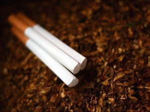 Tobacco filters on the pile