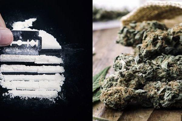 Cocaine and marijuana