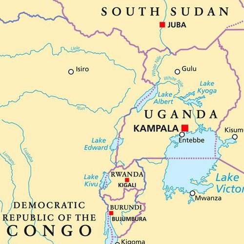 Uganda-Congo Border on the map