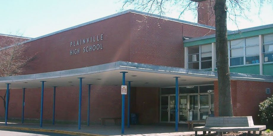 Plainville High School front enter