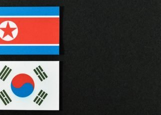 International news South and North Korean flags