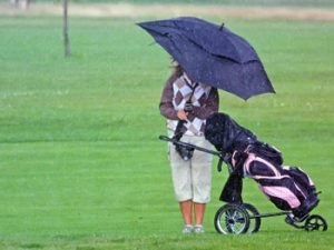 Weather problems on the golf field